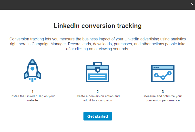 LinkedIn Conversion Tracking Popup